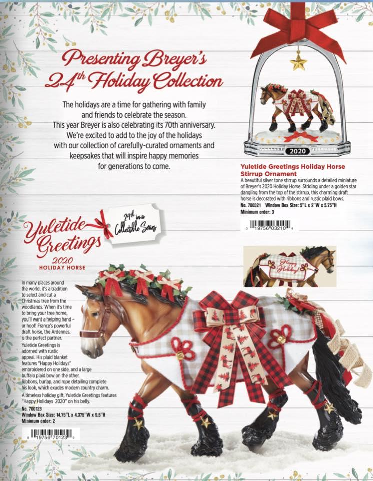 2020 Christmas Breyer Horse Yuletide Greetings – 2020 Holiday Horse – Desktop Stables